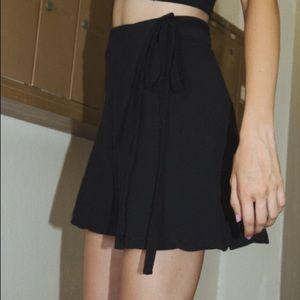 Dresses & Skirts - Brandy Melville black genevieve wrap skirt